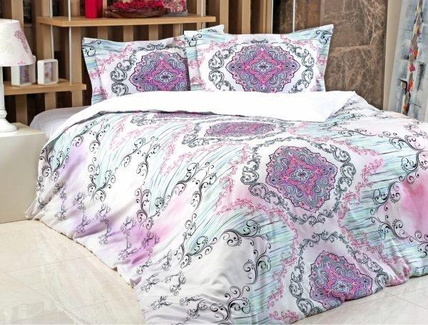 Постельное белье Irya Saten Digital Violet 200x220 (sv-2000022131322) Лиловый фото