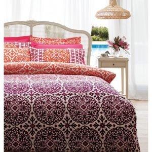 Постельное белье Karaca Home ранфорс Berry bordo 160x220 (sv-8680214003527) Бордовый|Оранжевый фото
