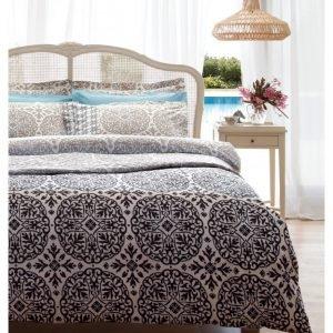 Постельное белье Karaca Home ранфорс Berry gri 160x220 (sv-8680214003510) Бежевый|Серый фото