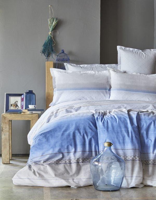 Постельное белье Karaca Home ранфорс Lapis indigo 2018-1  (sv-8680214168219-v) Голубой фото