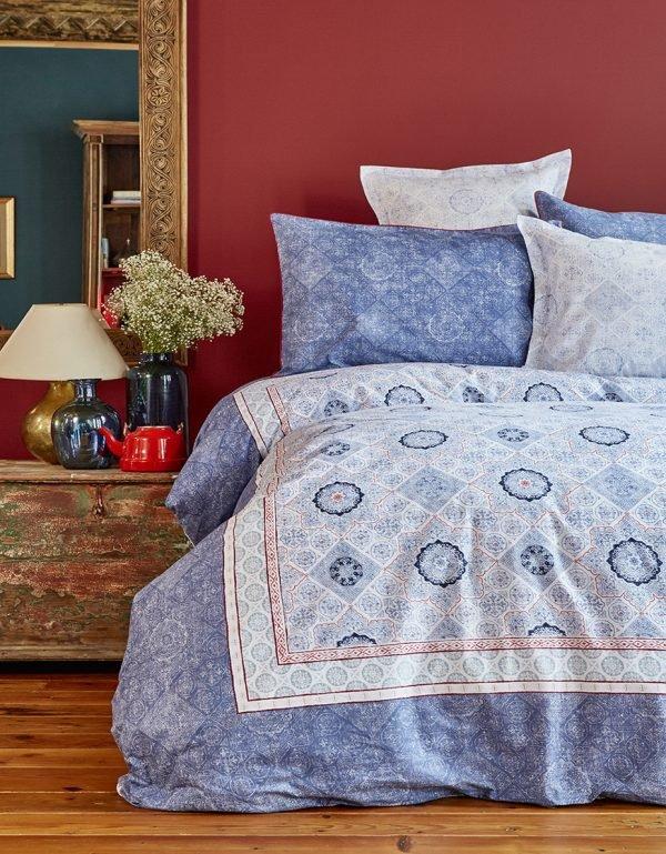 Постельное белье Karaca Home ранфорс Livio indigo 2018-1 200×220