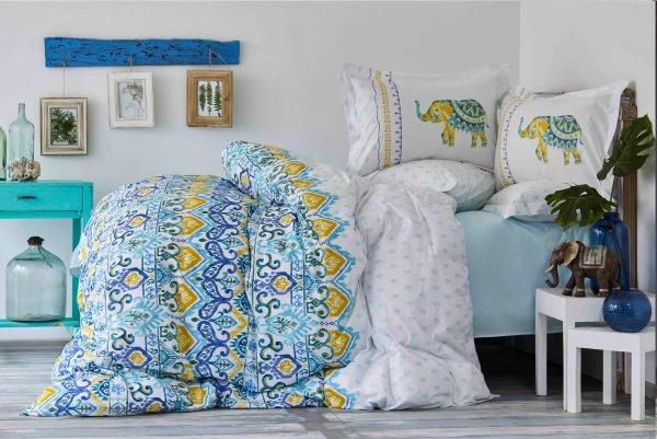 Постельное белье Karaca Home ранфорс Marodisa mavi 2018-2  (sv-8680214185599-v) Голубой фото