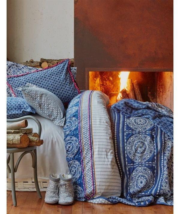 Постельное белье Karaca Home ранфорс Navy blue 2017-1