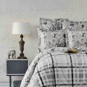 Постельное белье Karaca Home ранфорс Plaid gri 2019-1 200×220