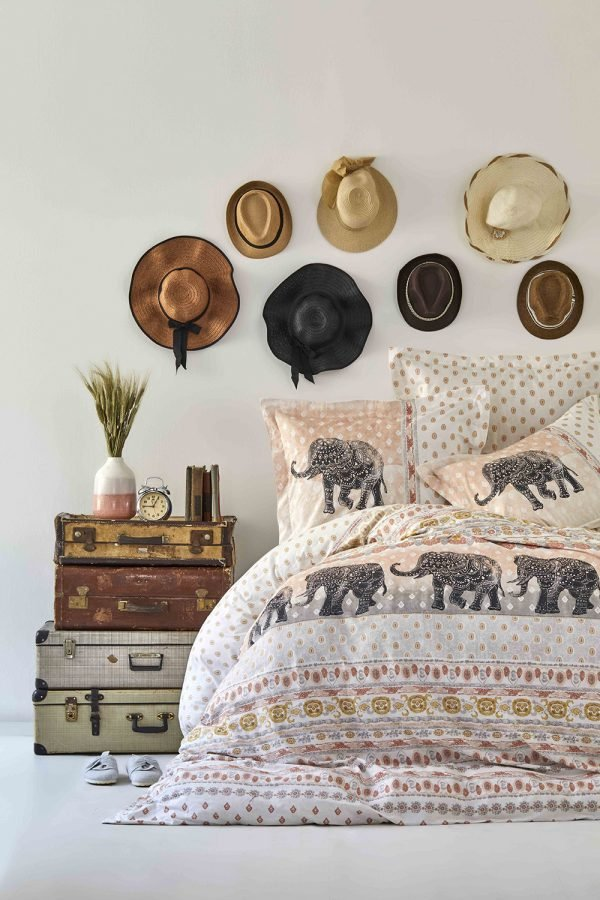 Постельное белье Karaca Home ранфорс Sandy blush 2019-1 200x220 (sv-2000022194631) Бежевый Кофейный фото