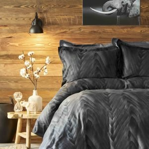 Постельное белье Karaca Home сатин Afya siyah 2019-1 200×220