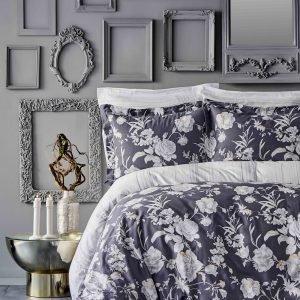 Постельное белье Karaca Home сатин Elvira antrasit 2019-1 200×220