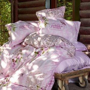 Постельное белье Karaca Home сатин Wisteria pembe 2016 200×220