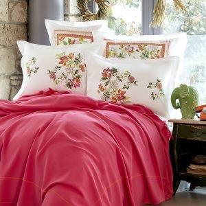 Постельное белье Karaca Home Siena fusya 2018-2 pike jacquard 200*240 200×240