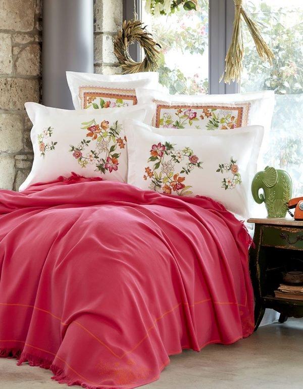 Постельное белье Karaca Home Siena fusya 2018-2 pike jacquard 200*240 200x240 (sv-2000022180801) Розовый фото