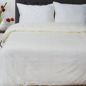 Постельное белье Lotus Отель Сатин Страйп Кремовый  (sv-2000008478403-v) Бежевый Кремовый фото