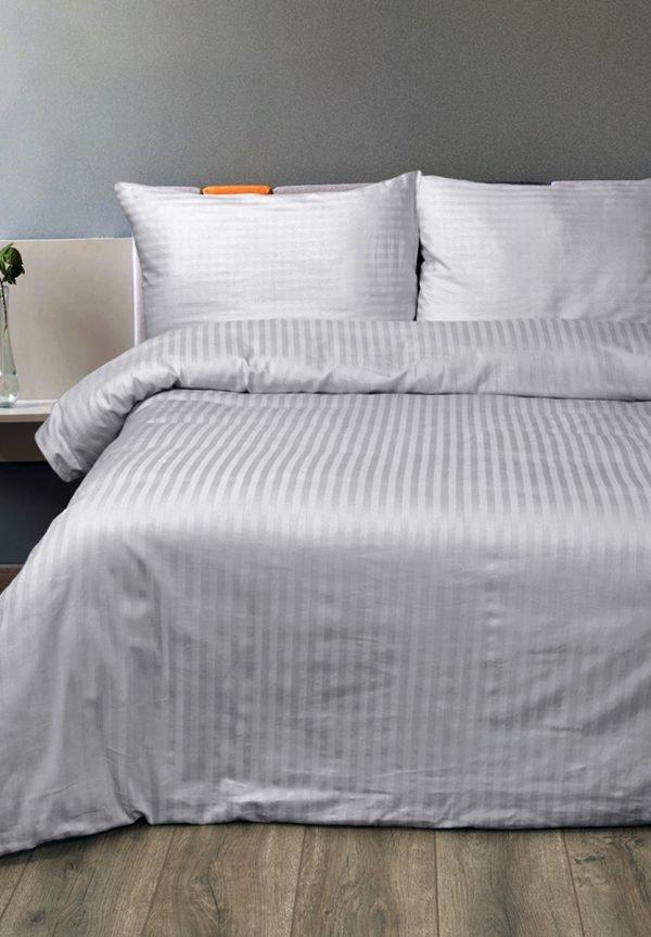 Постельное белье Lotus Отель Сатин Страйп Серый