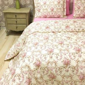 Постельное белье Lotus Premium Caroline Бежевый  (sv-2000008491242-v) Розовый|Бежевый фото