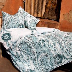 Постельное белье Lotus Premium Madeleine Бирюзовый  (sv-2000022072243-v) Бирюзовый фото