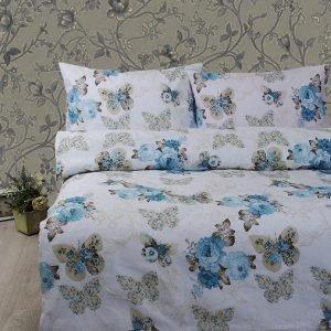 Постельное белье Lotus Ranforce Diana Бирюзовый  (sv-2000022180375-v) Бирюзовый фото