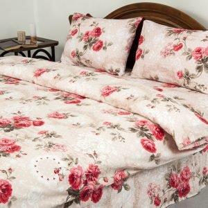 Постельное белье Lotus Ranforce Eva Розовый