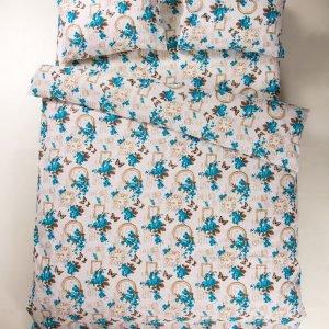 Постельное белье Lotus Ranforce Limoges V4 Голубой  (sv-2000008479134-v) Голубой фото