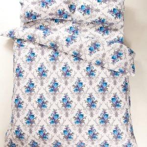 Постельное белье Lotus Ranforce Loise V1 Голубой  (sv-2000008479172-v) Голубой фото