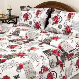 Постельное белье Lotus Ranforce Love Letter Red  (sv-2000022065504-v) Красный|Серый фото