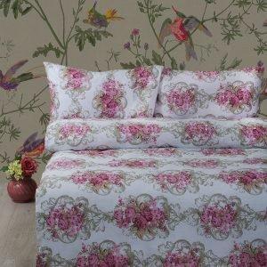 Постельное белье Lotus Ranforce Nancy Розовый