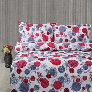 Постельное белье Lotus Ranforce Shiba  (sv-2000022179560-v) Красный|Голубой фото