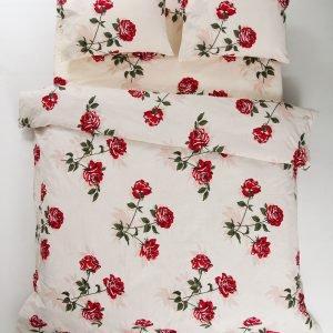 Постельное белье Lotus Ranforce Sofia  (sv-2000008459952-v) Бежевый|Красный фото