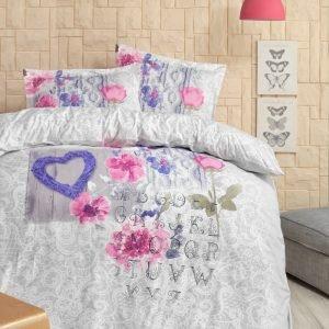 Постельное белье Storway ранфорс Belinda V2 200x220 (sv-8698881805047) Розовый|Серый фото
