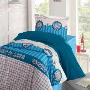 Постельное белье Storway ранфорс Champion 160x220 (sv-8698881805063) Голубой фото