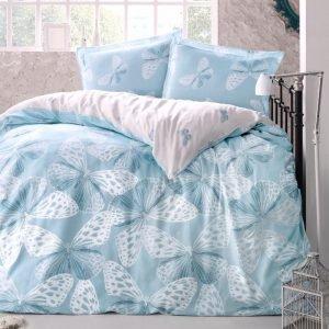 Постельное белье Storway ранфорс Jade V1 200x220 (sv-8698881805052) Голубой фото