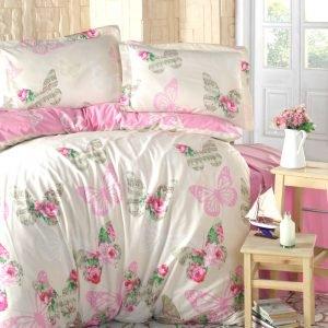 Постельное белье Storway ранфорс Leonela V1 200x220 (sv-8698881805034) Розовый фото