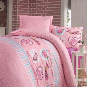 Постельное белье Storway ранфорс Romantic V1 200x220 (sv-8698881805041) Розовый фото