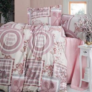 Постельное белье Storway ранфорс Rosen V1 200x220 (sv-8698881805036) Розовый фото