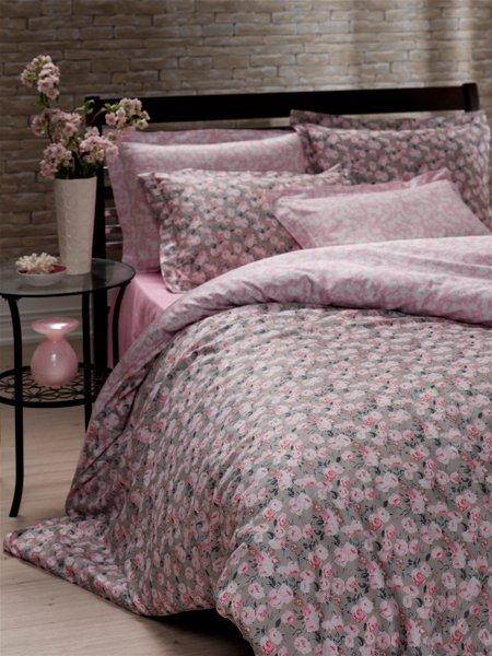 Постельное белье Storway сатин Calanthe V1 200x220 (sv-2000008480796) Розовый фото