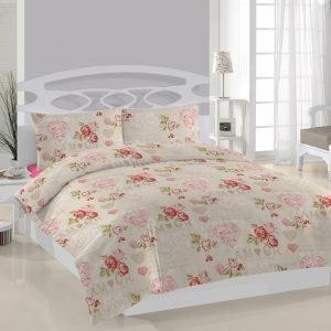 Постельное белье Weekend Amour ранфорс 200x220 (sv-2000008456555) Бежевый|Розовый фото