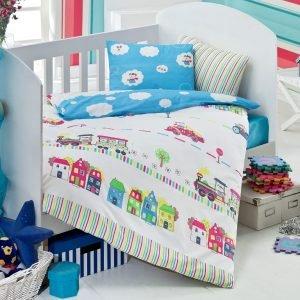 Детское постельное белье для младенцев Eponj Home — Tren Mavi 100×150