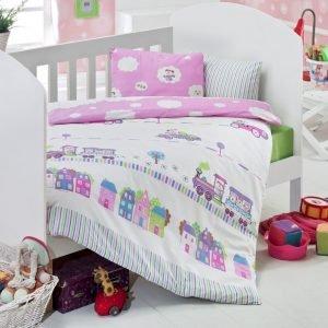 Детское постельное белье для младенцев Eponj Home – Tren Pembe 100×150