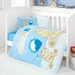 Детское постельное белье для младенцев Eponj Home – Yumos Mavi 100×150