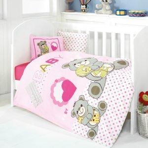 Детское постельное белье для младенцев Eponj Home – Yumos Pembe 100×150
