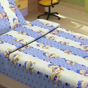 Детское постельное белье для младенцев Lotus – MiMi голубой 100×150
