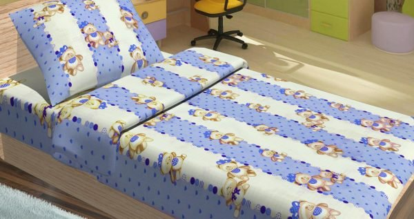купить Детское постельное белье для младенцев Lotus - MiMi голубой (2000008474337)