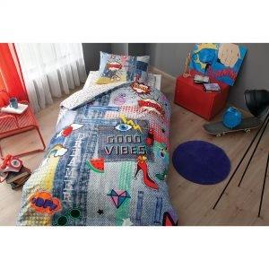 Подростковое постельное белье TAC Ranforce Teen – Good Vibes 160×220