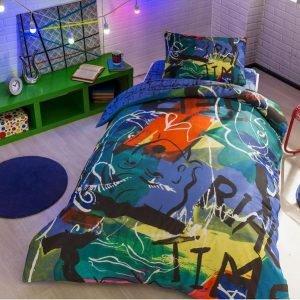 Подростковое постельное белье TAC Ranforce Teen Graffiti – Face mor v01 160×220