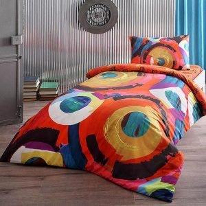 Подростковое постельное белье TAC Ranforce Teen Graffiti – Motion kirmizi 160×220