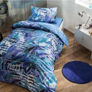 Подростковое постельное белье TAC Ranforce Teen Graffiti – Paint mavi v01 160×220