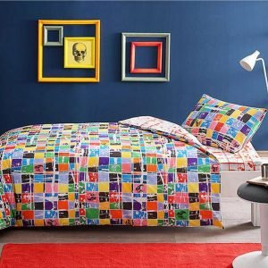 Подростковое постельное белье TAC Ranforce Teen Graffiti – Square oranj 160×220