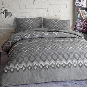 Подростковое постельное белье TAC Ranforce Teen — Juno gri v01 серый 160×220