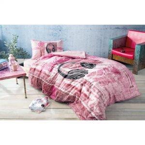 купить Подростковое постельное белье TAC Ranforce Teen - Listen розовый (2000022091244)
