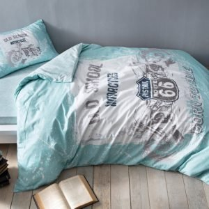 Подростковое постельное белье TAC Ranforce Teen – Route синий 160×220