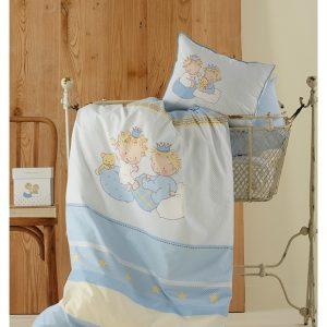 Постельное белье для младенцев Karaca Home – Mini голубое 100×150