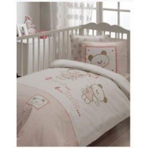 Постельное белье для младенцев Karaca Home — Stelle розовый 100×150